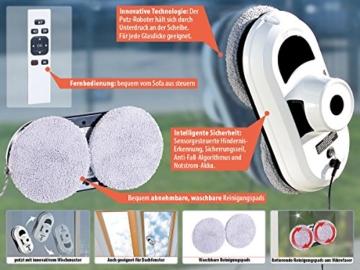 Sichler Haushaltsgeräte Haushaltshelfer: Intelligenter Fensterputz-Roboter PR-030 V2 (Fenster Robot) - 4