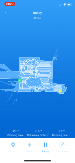 Roborock S5 Effizienz