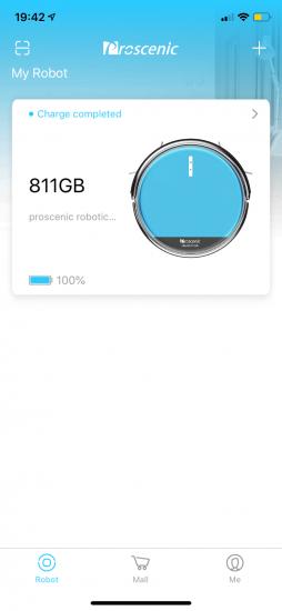 Proscenic 811GB Appsteuerung